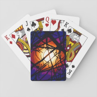 Stained Glass Moon Playing Cards