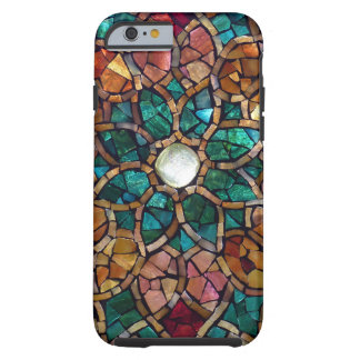 """Stained Glass Mosaic """"Autumn Star"""" iPhone 6 Case"""
