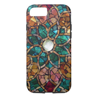 "Stained Glass Mosaic ""Autumn Star"" iPhone 7 Case"