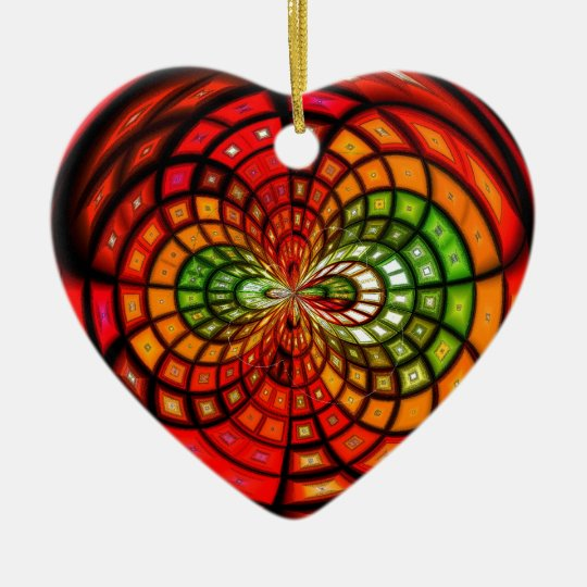 Stained Glass Mosaic Ceramic Ornament