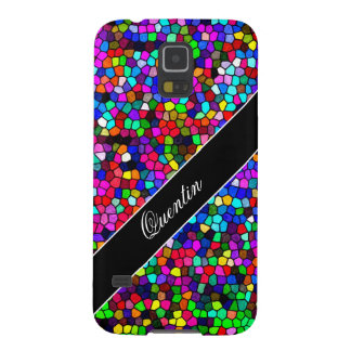 Stained Glass Mosaic Custom Name Galaxy S5 Case