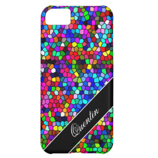 Stained Glass Mosaic Custom Name Cover For iPhone 5C