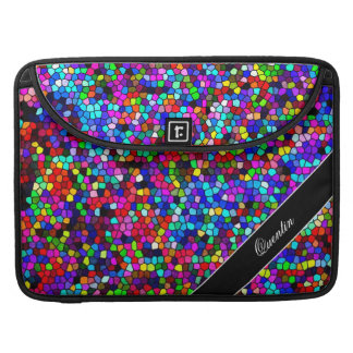 Stained Glass Mosaic Custom Name Sleeve For MacBooks