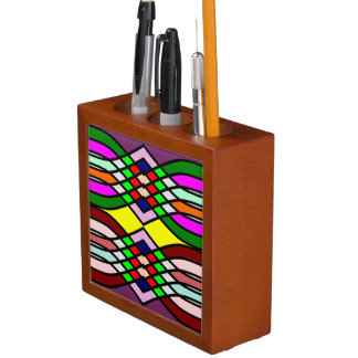 Stained glass desk organizers stained glass pencil pen - Glass desk organizer ...
