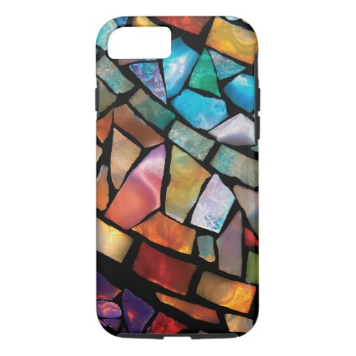 Stained Glass Mosaic Fiesta Fun iPhone 7 Case Phone Case