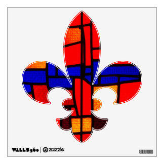 Stained Glass Mosaic Fleur De Lis Wall Skins