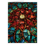 Stained Glass Mosaic Happy Holidays Card