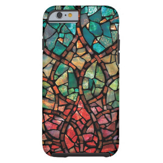 """Stained Glass Mosaic  """"Lotus Rising"""" iPhone 6 Case"""