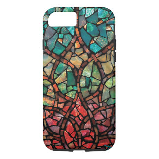 "Stained Glass Mosaic ""Lotus Rising"" iPhone 7 Case"