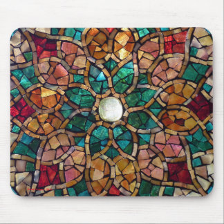 "Stained Glass Mosaic Mousepad ""Autumn Star"""