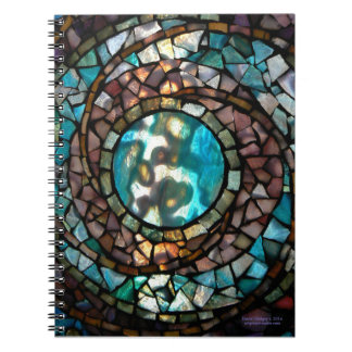 """Stained Glass Mosaic Notebook """"Blue Planet"""""""
