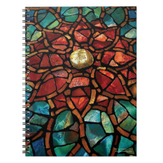 """Stained Glass Mosaic Notebook """"Lotus"""""""
