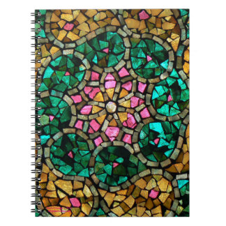 """Stained Glass Mosaic Notebook """"Pearl Star"""""""