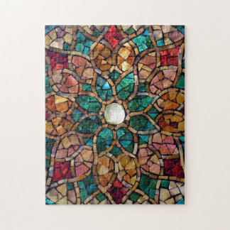 """Stained Glass Mosaic Puzzle """"Autumn Star"""""""