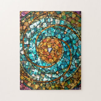 """Stained Glass Mosaic Puzzle """"In the Beginning"""""""