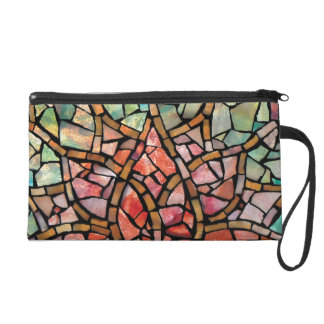"""Stained Glass Mosaic Wristlet """"Morning Lotus"""""""