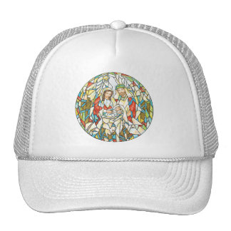 Stained Glass Nativity Painting Hat