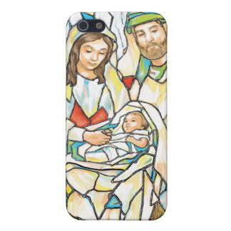 Stained Glass Nativity Painting Cover For iPhone 5/5S