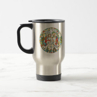 Stained Glass Nativity Painting Mug
