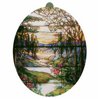 Stained Glass Nature Ornament
