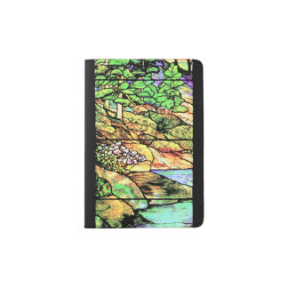 Stained Glass Nature Woods Passport Holder