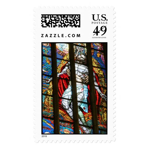Stained Glass of Christ Stamp