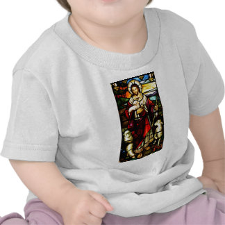 Stained Glass of Jesus The Good Shepherd T Shirts