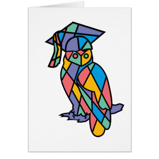 Stained Glass Owl Card
