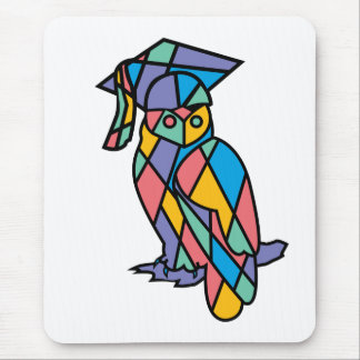 Stained Glass Owl Mouse Pad