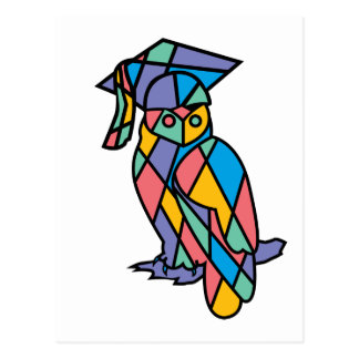Stained Glass Owl Postcard