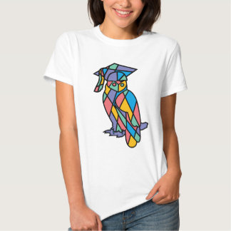 Stained Glass Owl Tee Shirt