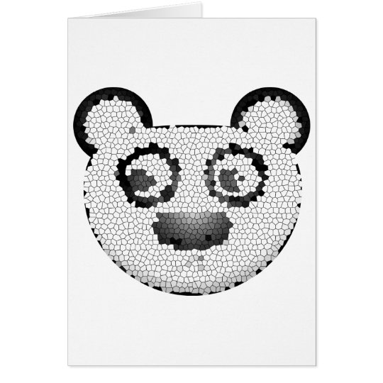 Stained glass panda card