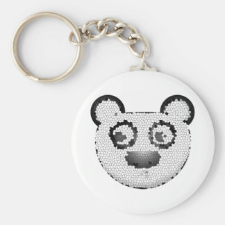 Stained glass panda key chain