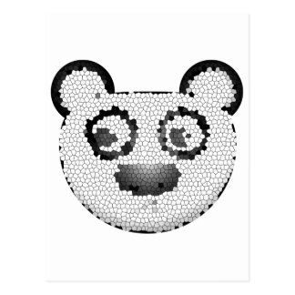Stained glass panda postcard