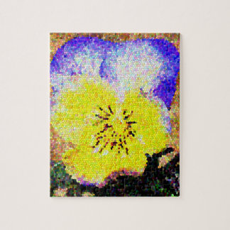 Stained Glass Pansy Puzzle