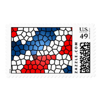 Stained Glass Patriot - postage stamps