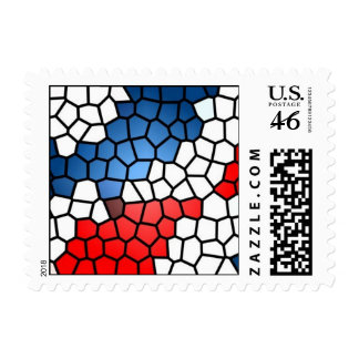 Stained Glass Patriot (small) - postage stamps