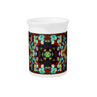 Stained Glass Pattern: Drink Pitcher