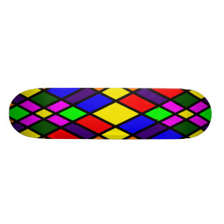 STAINED GLASS PATTERN SKATEBOARD DECK