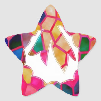 STAINED Glass Pattern Wreath Design Stickers