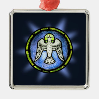 Stained Glass Peace Dove Ornament