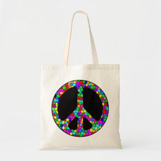 Stained Glass Peace Tote