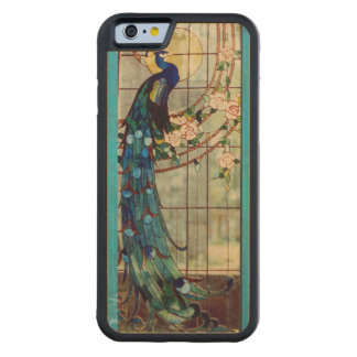 Stained Glass Peacock Carved Maple iPhone 6 Bumper Case