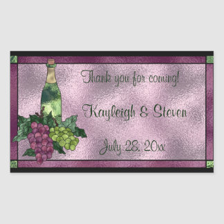 Stained Glass Personalized Rectangular Sticker
