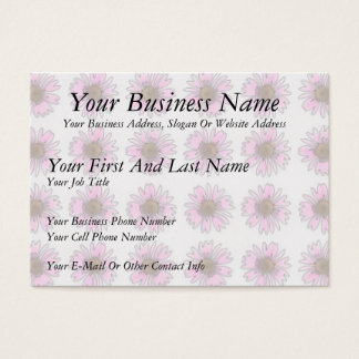 Stained Glass Pink Daisies Business Card