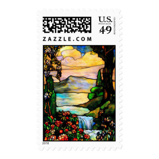 Stained glass (postage) postage stamp