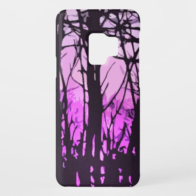 Stained Glass Purple Sunset Galaxy S9 Case