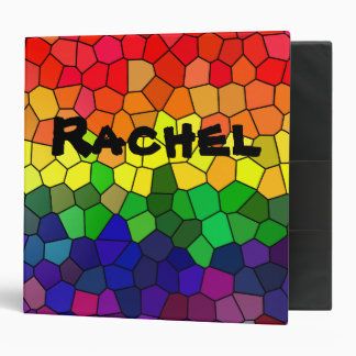 Stained Glass Rainbow Binder