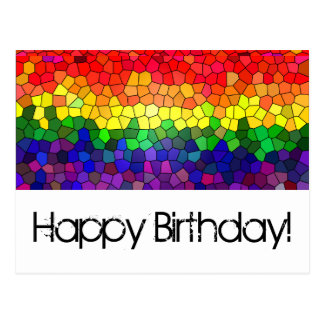 Stained Glass Rainbow - Birthday Card