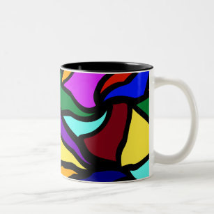 Stained Gl Recycled Two Tone Coffee Mug